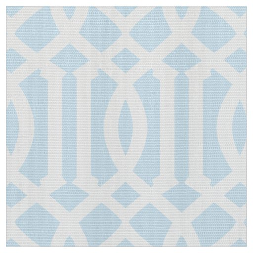Powder Blue Moroccan Pattern | Fabric