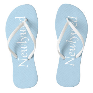 Powder Blue Newlywed Flip Flops