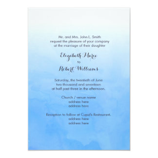 Powder Blue Ombre Watercolor Card