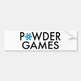 Powder Games Bumper Sticker