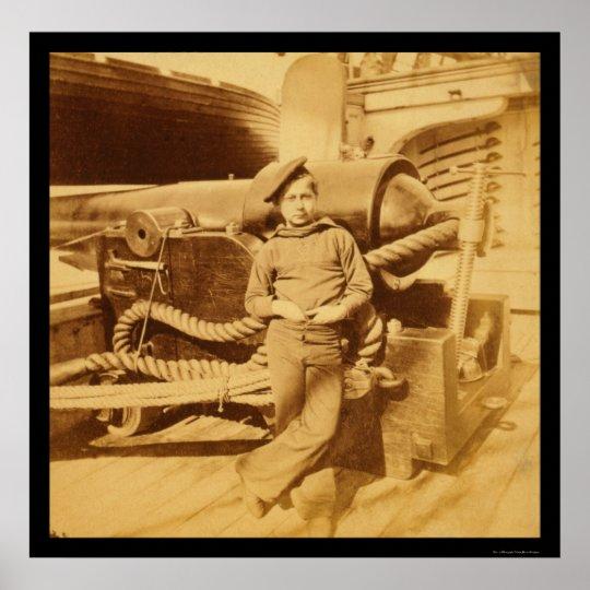 Powder Monkey on the USS Pawnee 1862 Poster