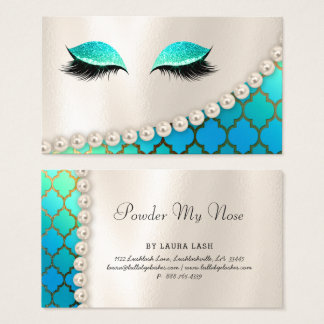 Powder my Nose Makeup Eye Lash Lashes Moroccan Business Card