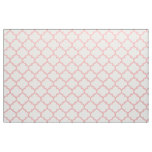 Powder Pink Moroccan Trellis Pattern Fabric