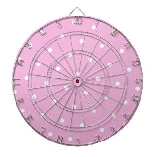 Powder Pink/White Polka dot Dartboard