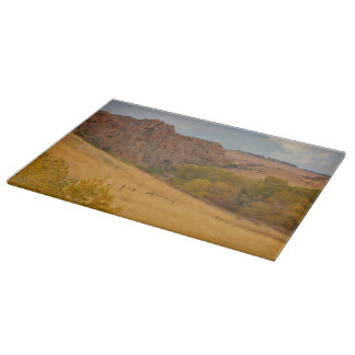 Powder River Fence Cutting Board Western Landscape