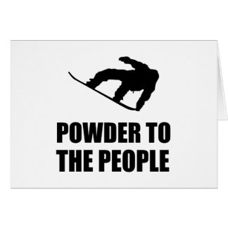 Powder Snow To The People Ski Card