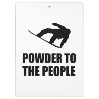 Powder Snow To The People Ski Clipboard