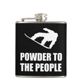 Powder Snow To The People Ski Hip Flask