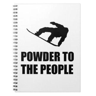 Powder Snow To The People Ski Notebook