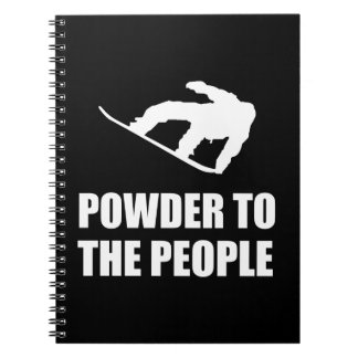 Powder Snow To The People Ski Spiral Notebook
