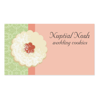 Powdered sugar jam cookie baking business cards