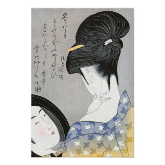 Powdering the Neck Kitagawa Utamaro Poster