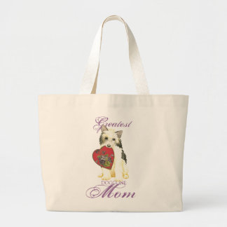 Powderpuff Heart Mom Large Tote Bag