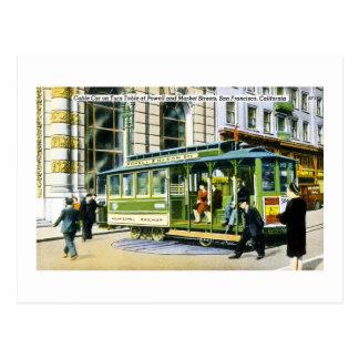 Powell and Market Streets, San Francisco, CA Postcard
