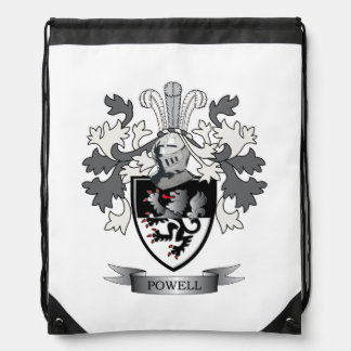 Powell Family Crest Coat of Arms Drawstring Bag