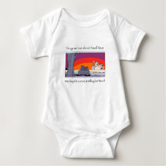 Powell river  copy baby bodysuit