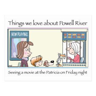 Powell River - the cinema Postcard