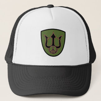 Power and Peace - Trident - Peace Sign Hat. Trucker Hat