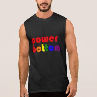 Power Bottom Gay Pide Rainbow Sleeveless Tees