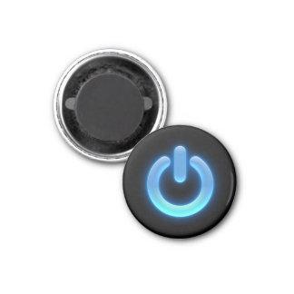 Power Button (Blue) 1 Inch Round Magnet