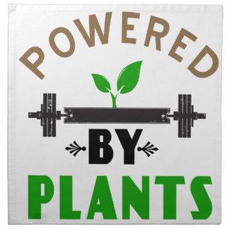 power by plants cute design napkin