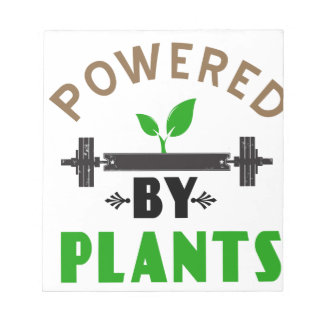 power by plants cute design notepad