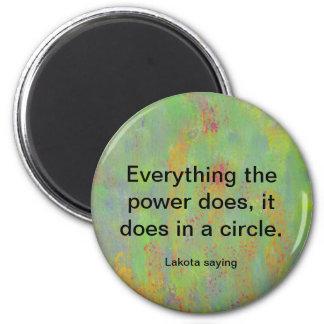 power circle lakota tribe magnet