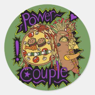 Power Couple Color Sticker