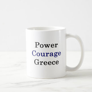 Power Courage Greece Coffee Mug