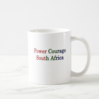 Power Courage South Africa Coffee Mug
