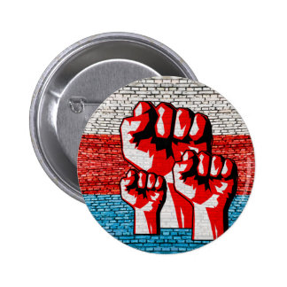 Power Fist 2 Inch Round Button