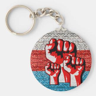 Power Fist Basic Round Button Keychain