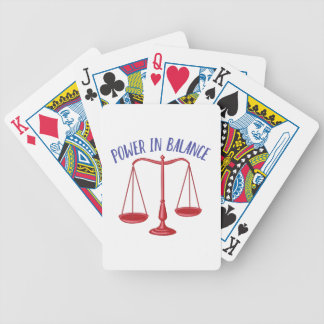Power In Balance Bicycle Playing Cards