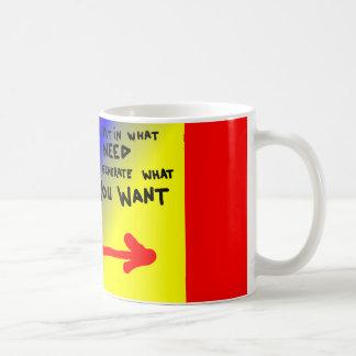 Power: input output coffee mug