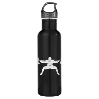"""POWER LIFTING"" Sumo Power Squat Illustration 710 Ml Water Bottle"