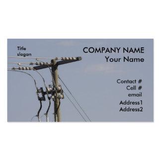 power line pole business card