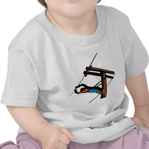 Power Lineman Electrician Electric Worker Tee Shirts