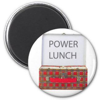 POWER LUNCH ...BOX DESIGN 2 INCH ROUND MAGNET