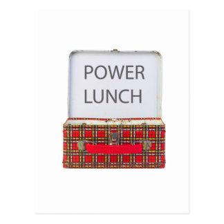 POWER LUNCH ...BOX DESIGN POSTCARD