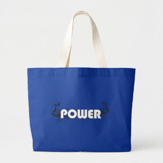 Power muscles large tote bag