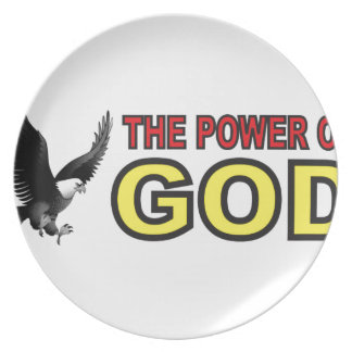 power of god yellow party plates