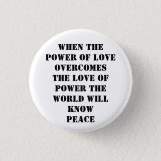 power of love 1 inch round button