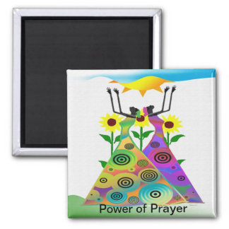 Power of Prayer Square Magnet