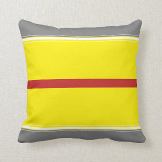 Power of yellow and grey Throw Pillow