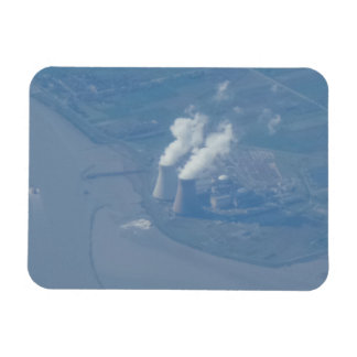 "Power Plant Aerial View 3""x4"" Magnet"