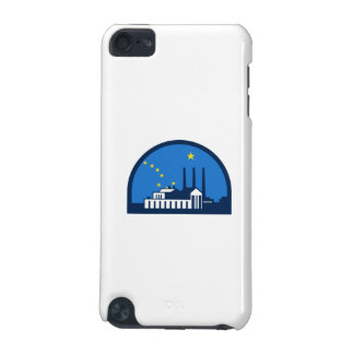 Power Plant Alaska Flag Half Circle Retro iPod Touch (5th Generation) Case