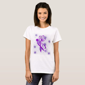 Power Purple For a Cure Women's Basic T-Shirt