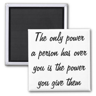 Power Quote Square Magnet
