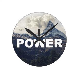 Power Round Clock