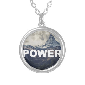Power Silver Plated Necklace